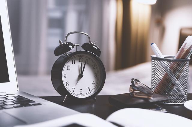 プロテイン摂取の時間を計る時計