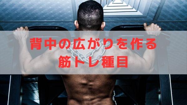 背中の広がりを作る筋トレをする男性